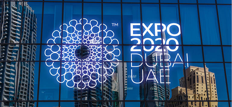 expo 2020 dubai sign